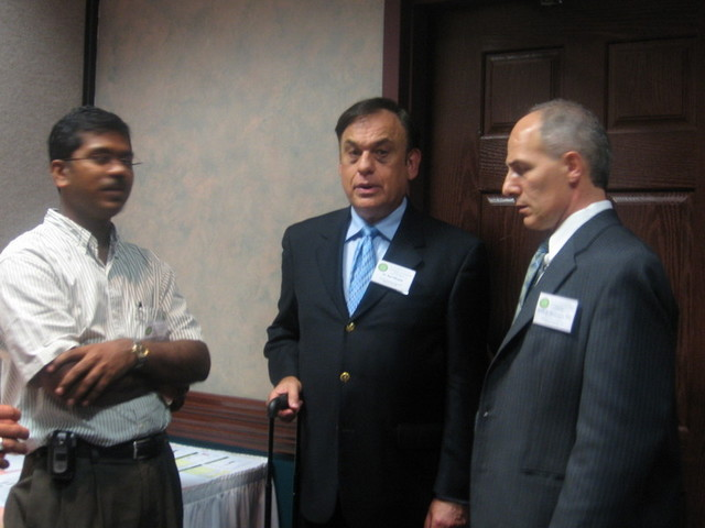 From Left:  Jairam Vanamala PhD, Earl Mindell PhD, Danik Martirosyan PhD (Chairman of Conference)
