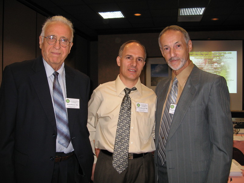 From Left: Beiouk Mansouri PhD, Danik Martirosyan PhD (Chairman of Conference), Prof. Moris Silber MD