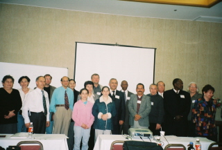 Group of international conference attendants
